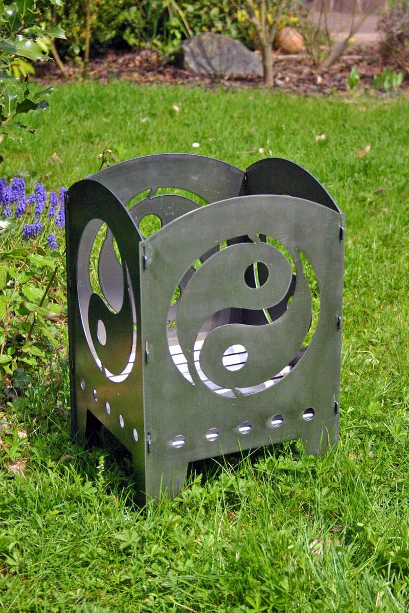 feuerkorb yin und yang rohstahlfeuerkorb stahlfeuerkorb metallfeuerkorb designfeuerkorb. Black Bedroom Furniture Sets. Home Design Ideas