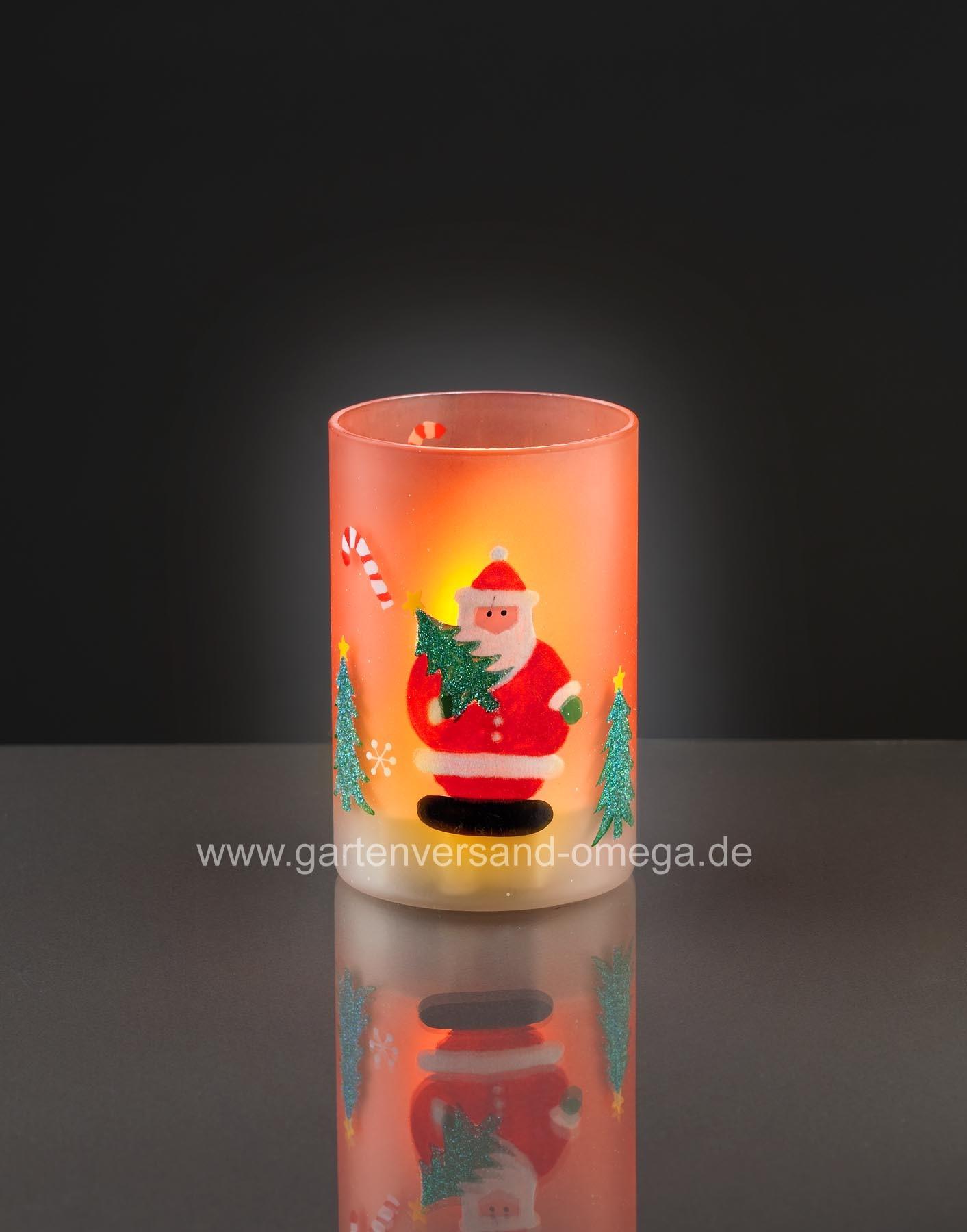 LED-Kerze mit Glas - Weihnachtsdekoration, Weihnachtsbeleuchtung, LED ...