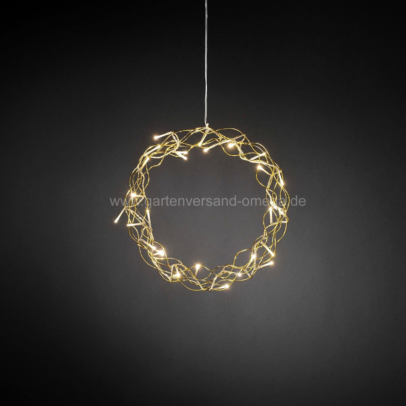 led metallsilhouette kranz gold leuchtende fensterdeko. Black Bedroom Furniture Sets. Home Design Ideas