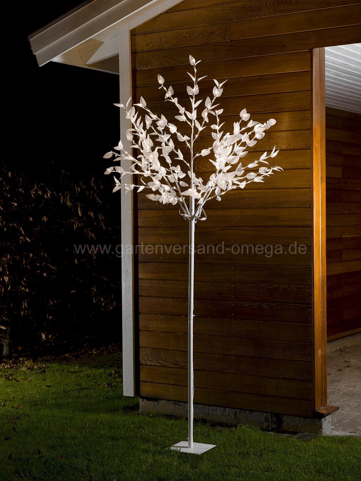 led lichterbaum mit bl ttern 250cm gro er beleuchteter. Black Bedroom Furniture Sets. Home Design Ideas