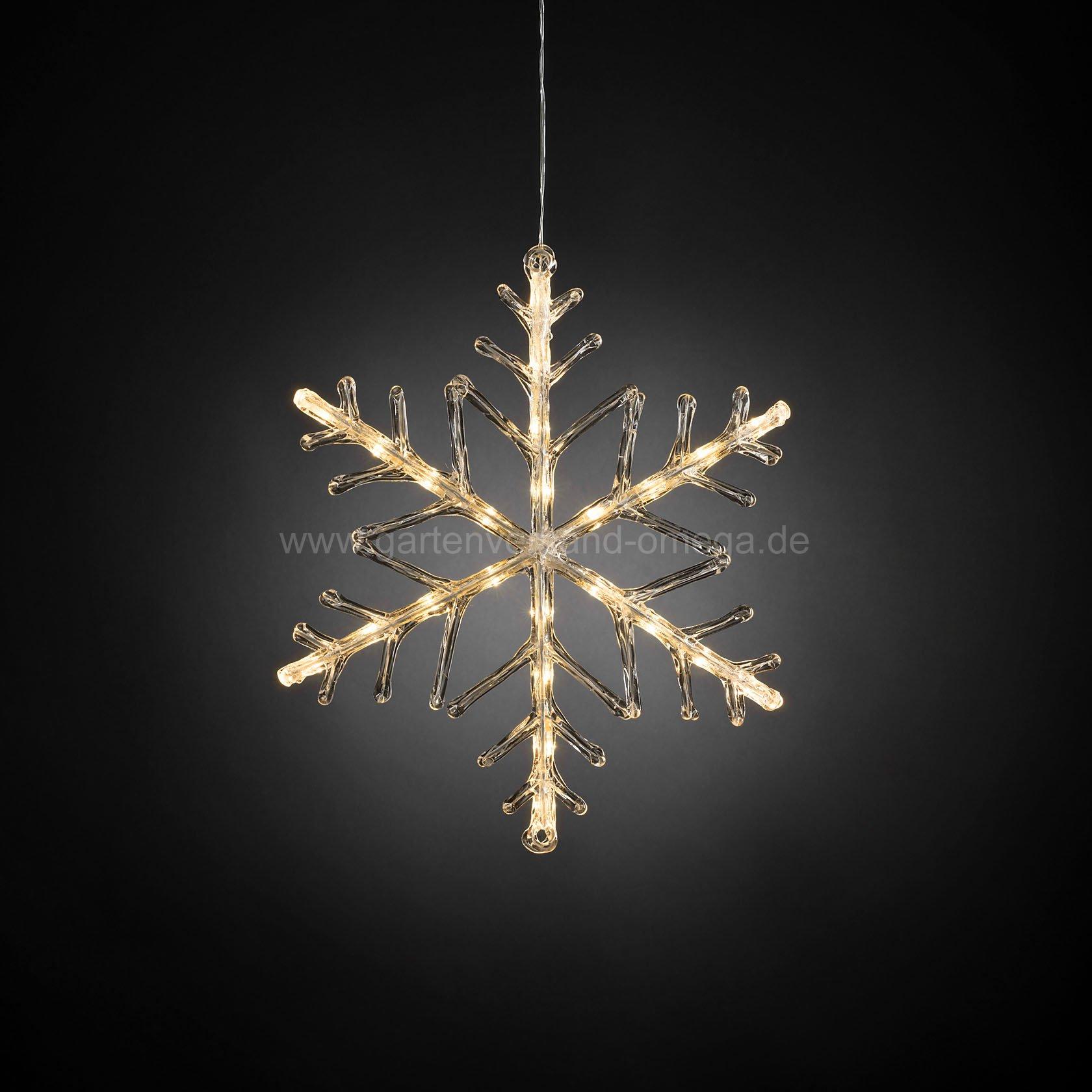 batteriebetriebene led acryl schneeflocke acrylsilhouette weihnachtsbeleuchtung im garten. Black Bedroom Furniture Sets. Home Design Ideas
