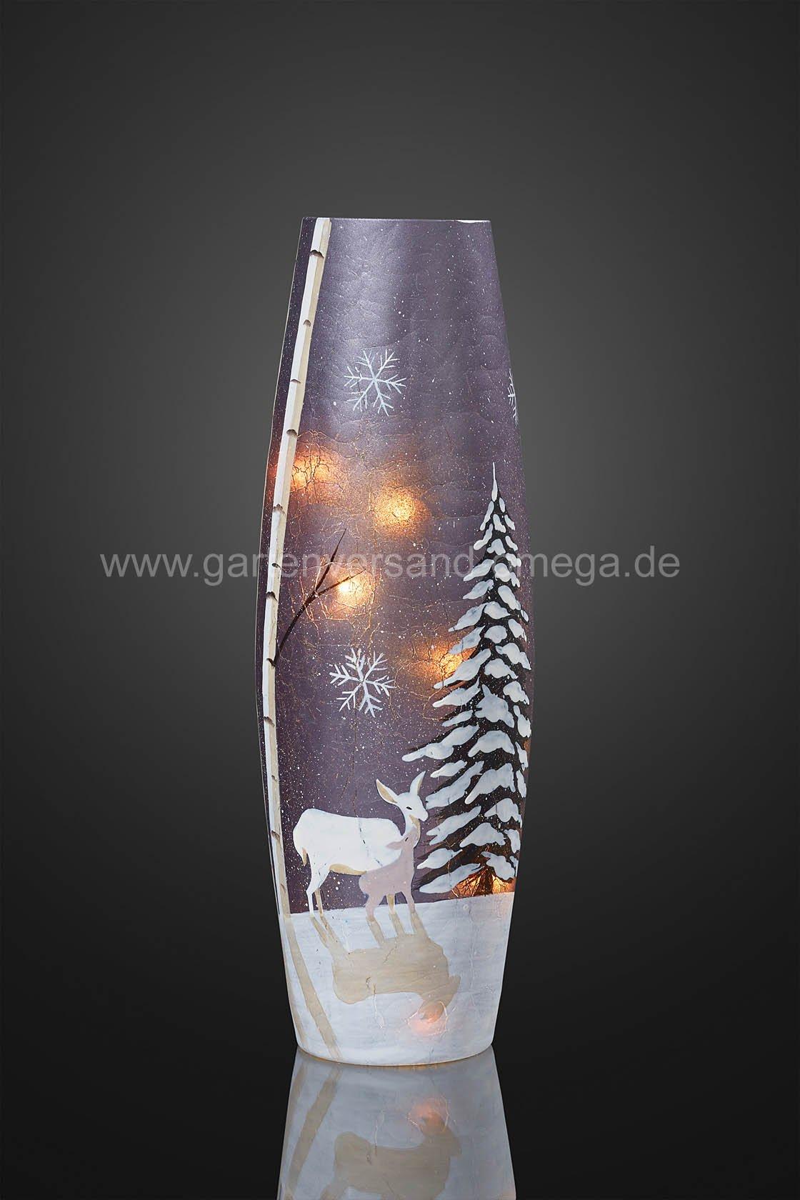 Weihnachtsdeko in glasvase for Edle weihnachtsdeko