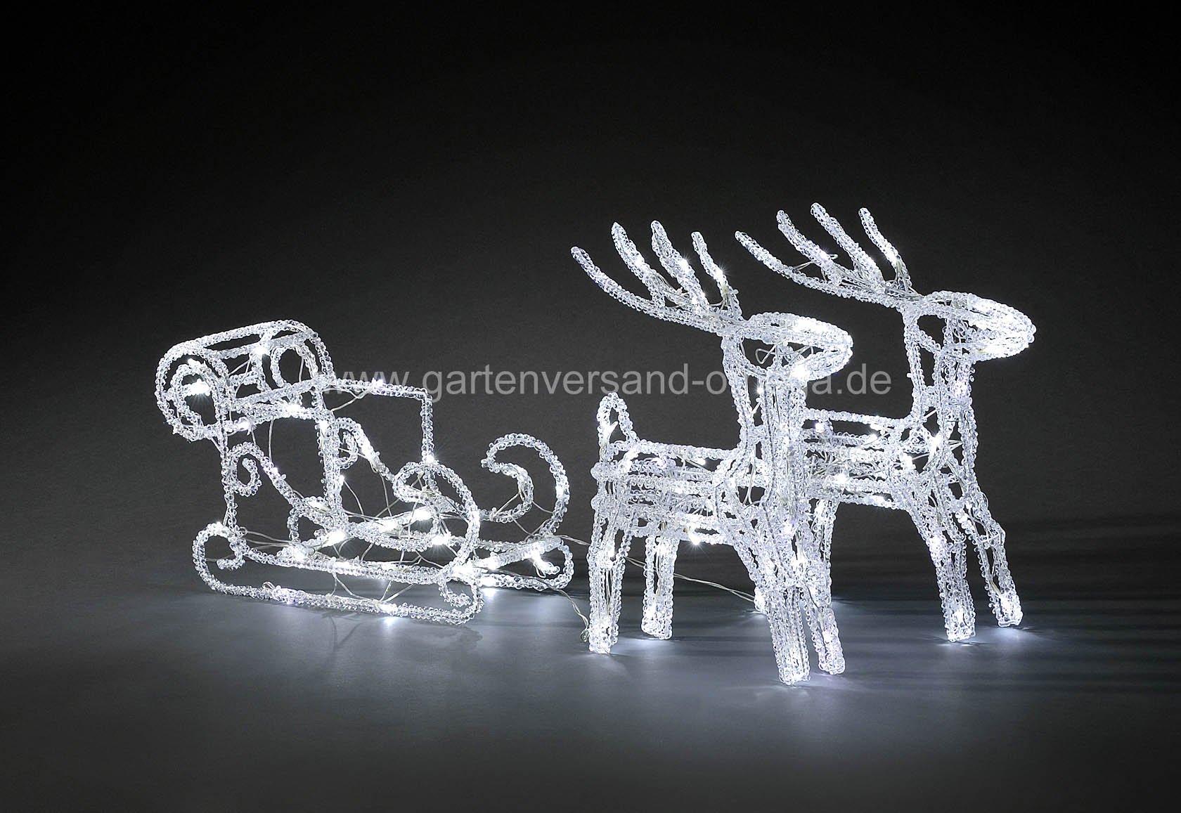 led weihnachtsbeleuchtung rentiere mit schlitten. Black Bedroom Furniture Sets. Home Design Ideas