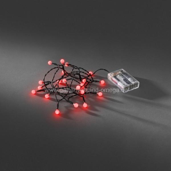 Batteriebetriebene LED-Kugellichterkette Rot