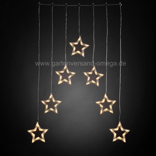 LED Lichtervorhang mit Sternensilhouetten