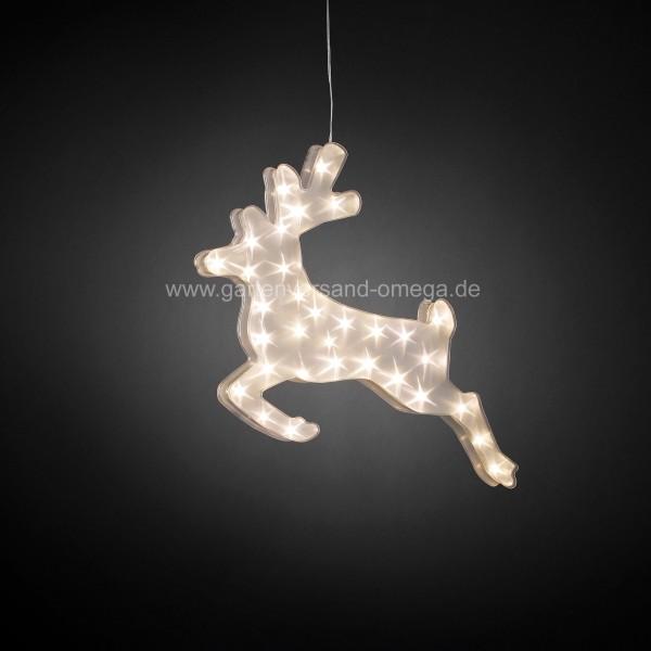 Effektdekoration LED Kunststoffrentier