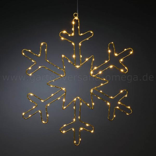 Micro-LED Goldschneeflocke - Fenster Deko Weihnachten