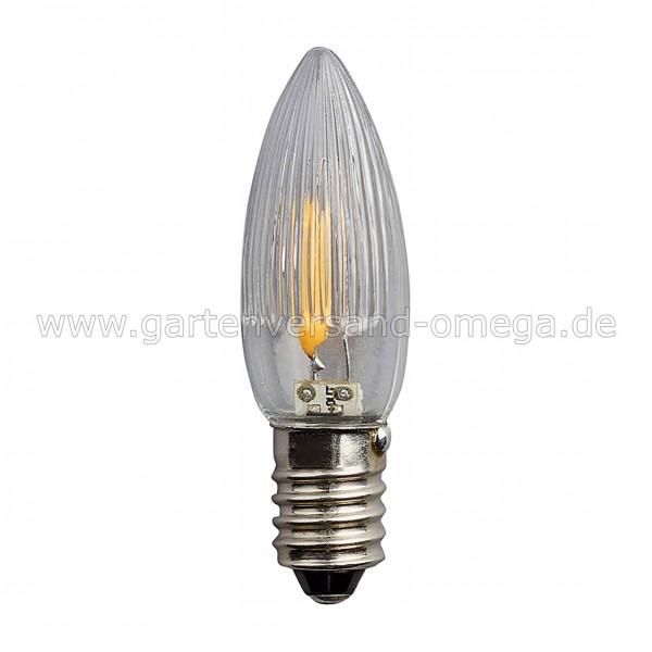 Ersatzbirnchen für LED Filament Riffelkerzen-Lichterkette