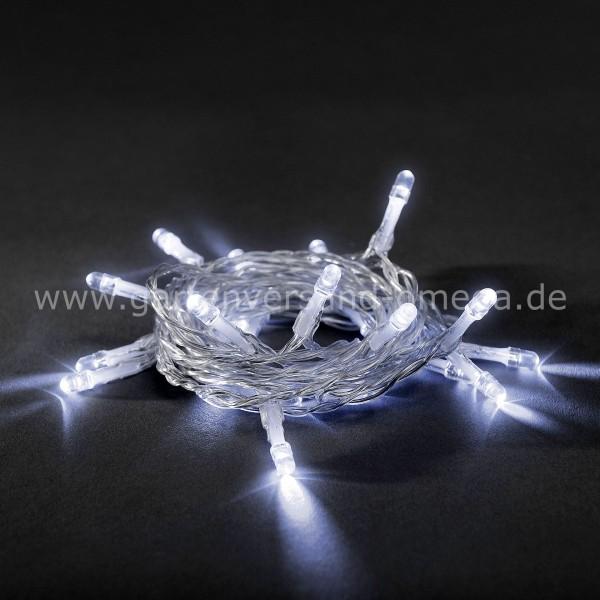 Kaltweiße LED-Lichterkette Batteriebetrieben