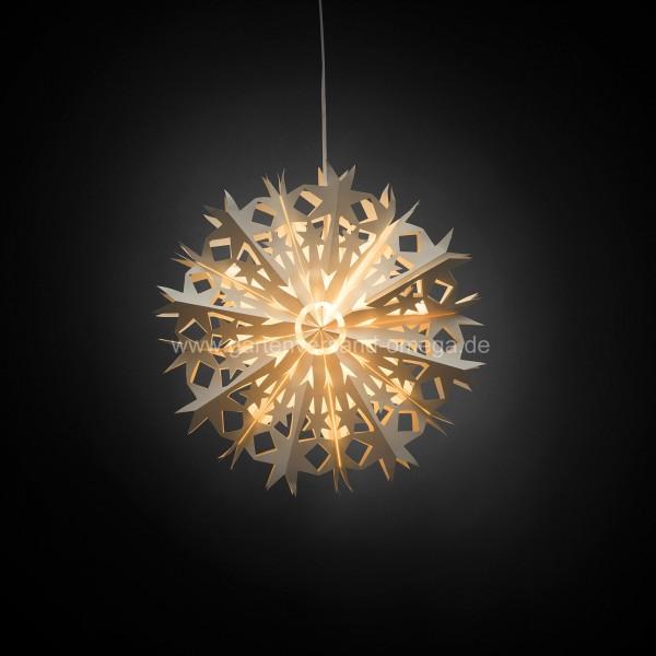 beleuchteter muster papierstern wei edler papierstern. Black Bedroom Furniture Sets. Home Design Ideas
