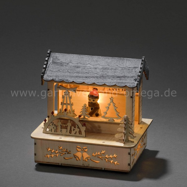 LED-Holzsilhouette Marktstand