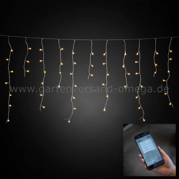 LED-Lichtervorhang mit App-Steuerung
