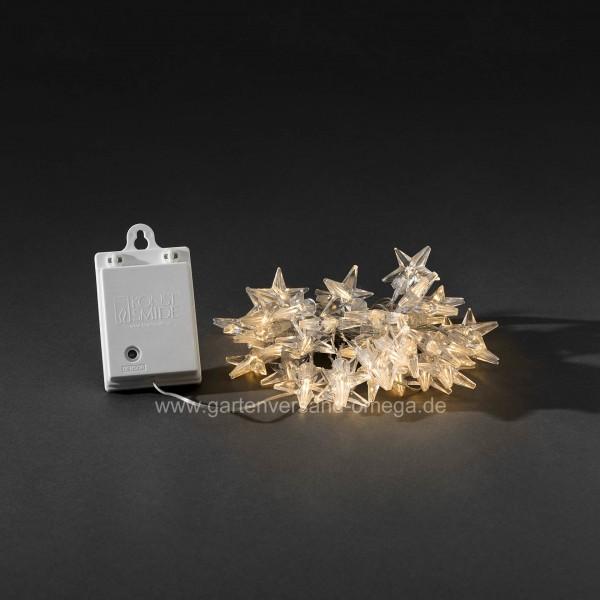 Batteriebetriebene Lichterkette mit Acrylsternen 40 LED