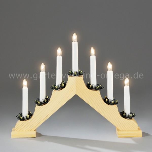 Weihnachtsleuchter aus Holz Naturfarben