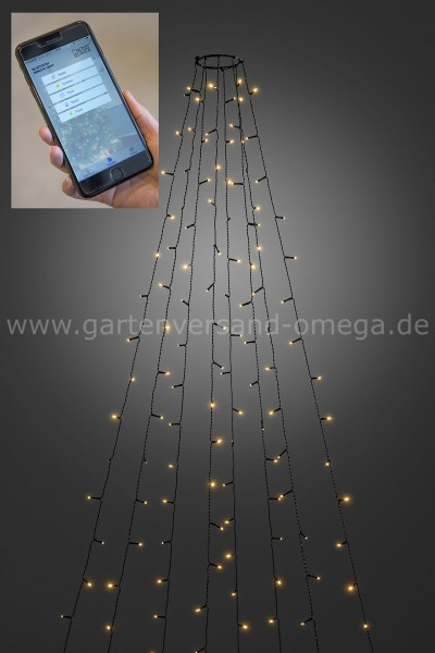 LED Baummantel-Lichterkette für Außen mit App-Steuerung
