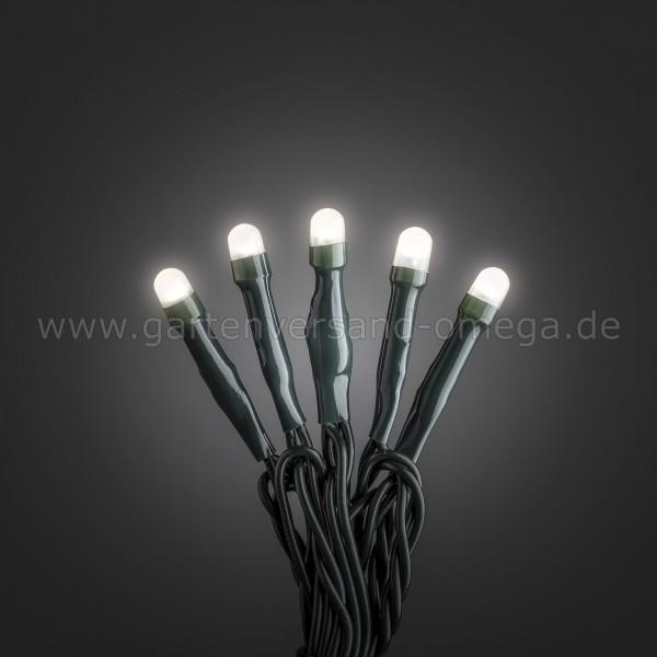 Micro-LED Lichterkette gefrostet Warm-Weiß - grünes Kabel