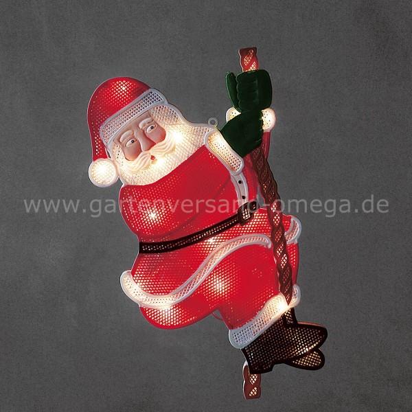 LED-Fensterbild Kletternder Weihnachtsmann