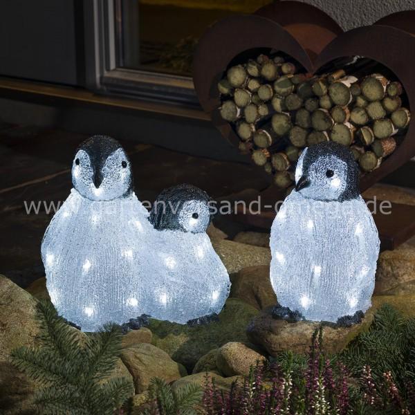 LED Acryl-Pinguinfamilie