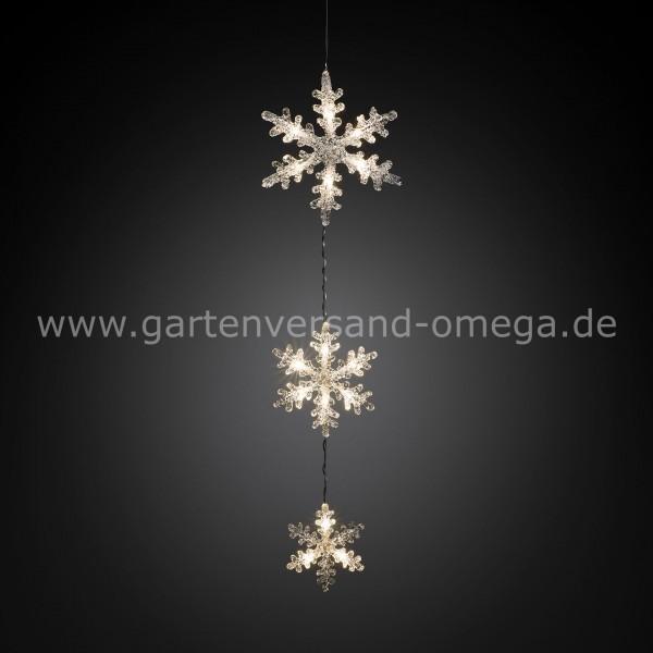 Led Weihnachtsbeleuchtung Warmweiss.Led Schneeflockenvorhang Warm Weiß
