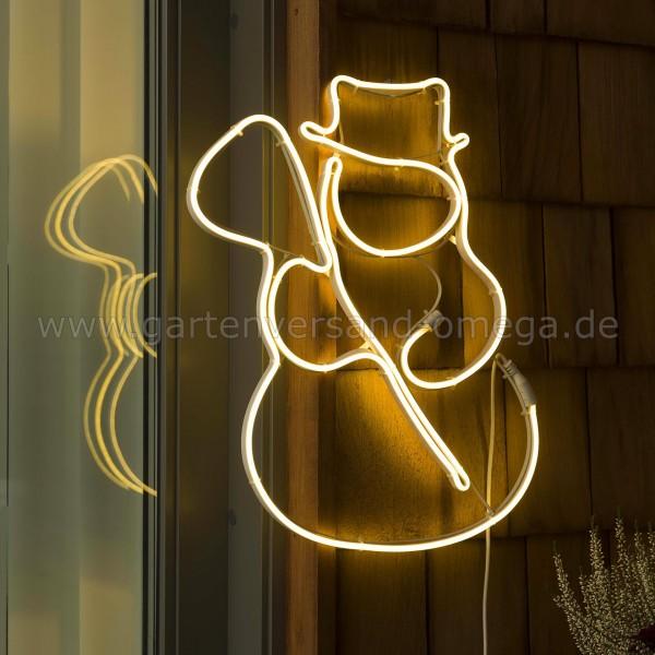 Weihnachtsaußendekoration LED-Schlauchsilhouette Schneemann