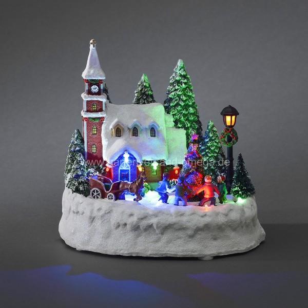 led weihnachtsdeko haus mit spielenden kindern led szenerie weihnachtsbeleuchtung f r innen. Black Bedroom Furniture Sets. Home Design Ideas
