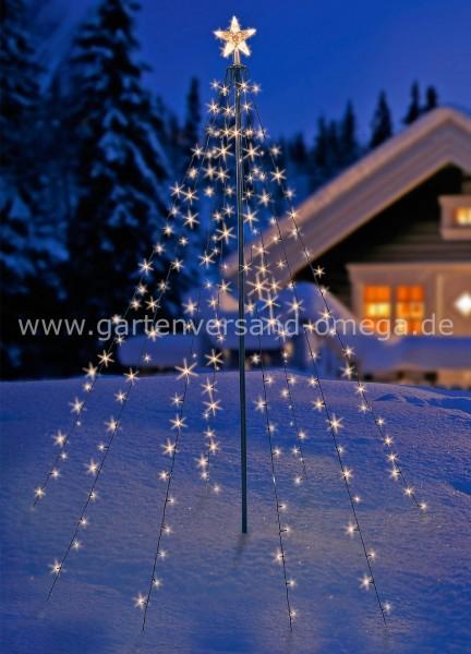Led Weihnachtsbeleuchtung Baum.Led Tannenbaum Simulation Mit Leuchtendem Stern