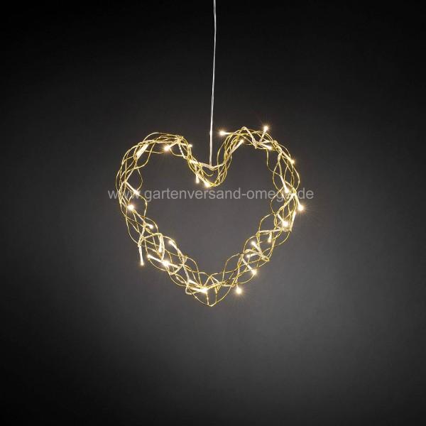 Led Weihnachtsbeleuchtung Für Fenster.Led Metallsilhouette Herz Gold