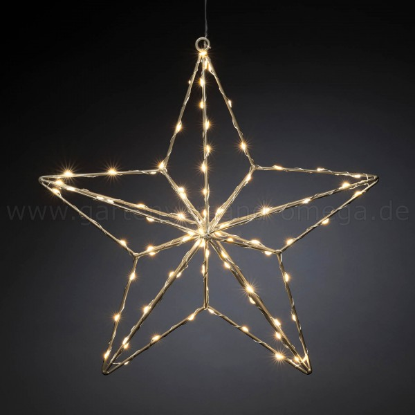 LED-Stern Silber - Weihnachtsbeleuchtung Stern