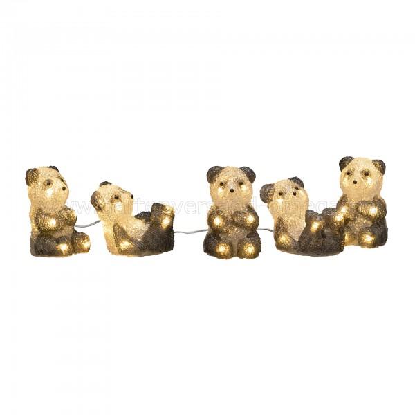 LED-Acryl Pandabären