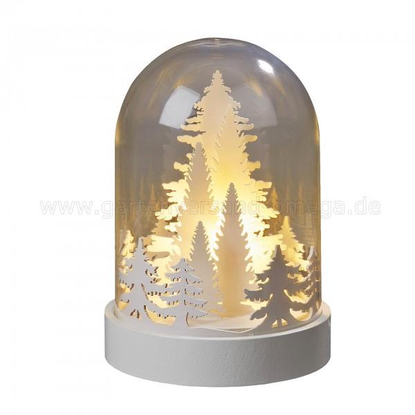 LED-Glasglocke Wald