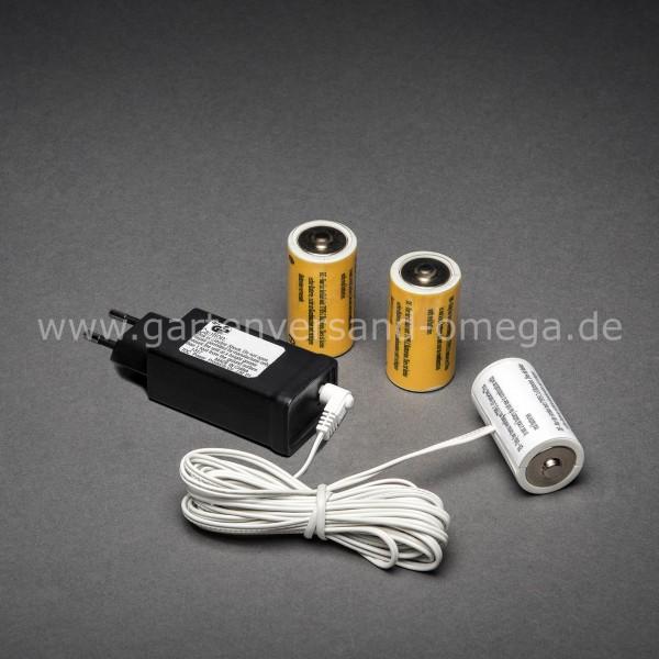 Netzadapter für Batterieartikel 3x Typ C Baby