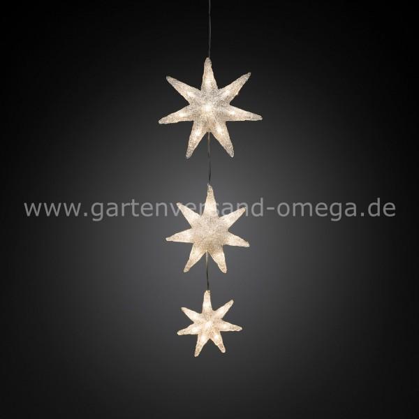 Fenster Weihnachtsbeleuchtung.Led Fensterdekoration Sternvorhang