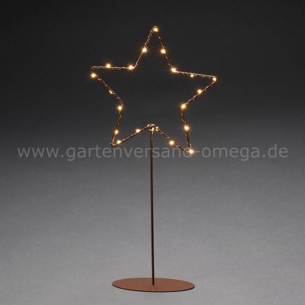 LED Metallstern stehend Kupfer