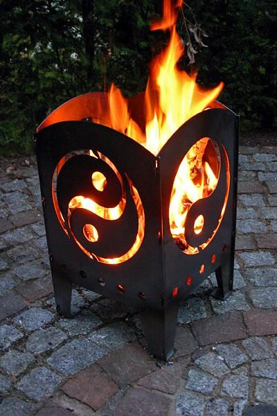 Feuerkorb Yin und Yang