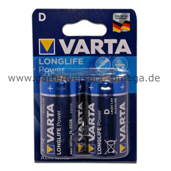 Varta Batterie Longlife Power D Mono