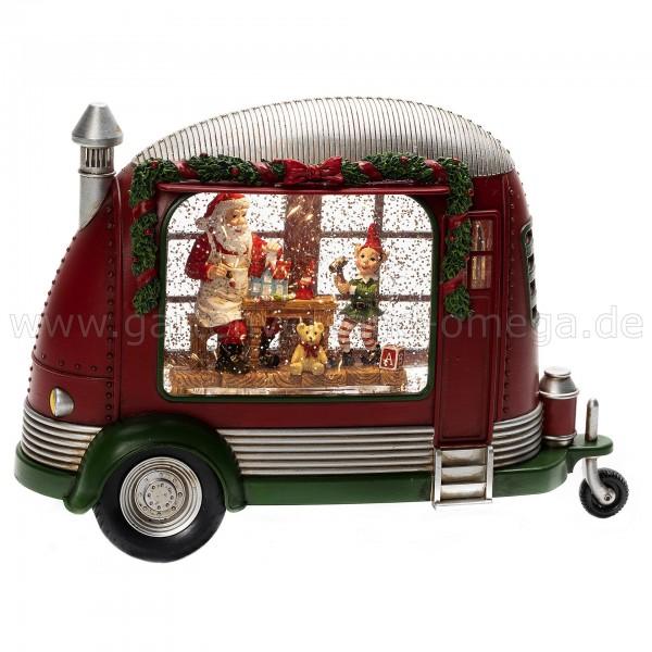 Wassergefüllte Weihnachtsdekoration Wohnwagen