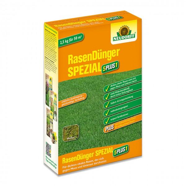 Neudorff Rasendünger Spezial 5PLUS1 2,5kg - Spezial-Rasendünger