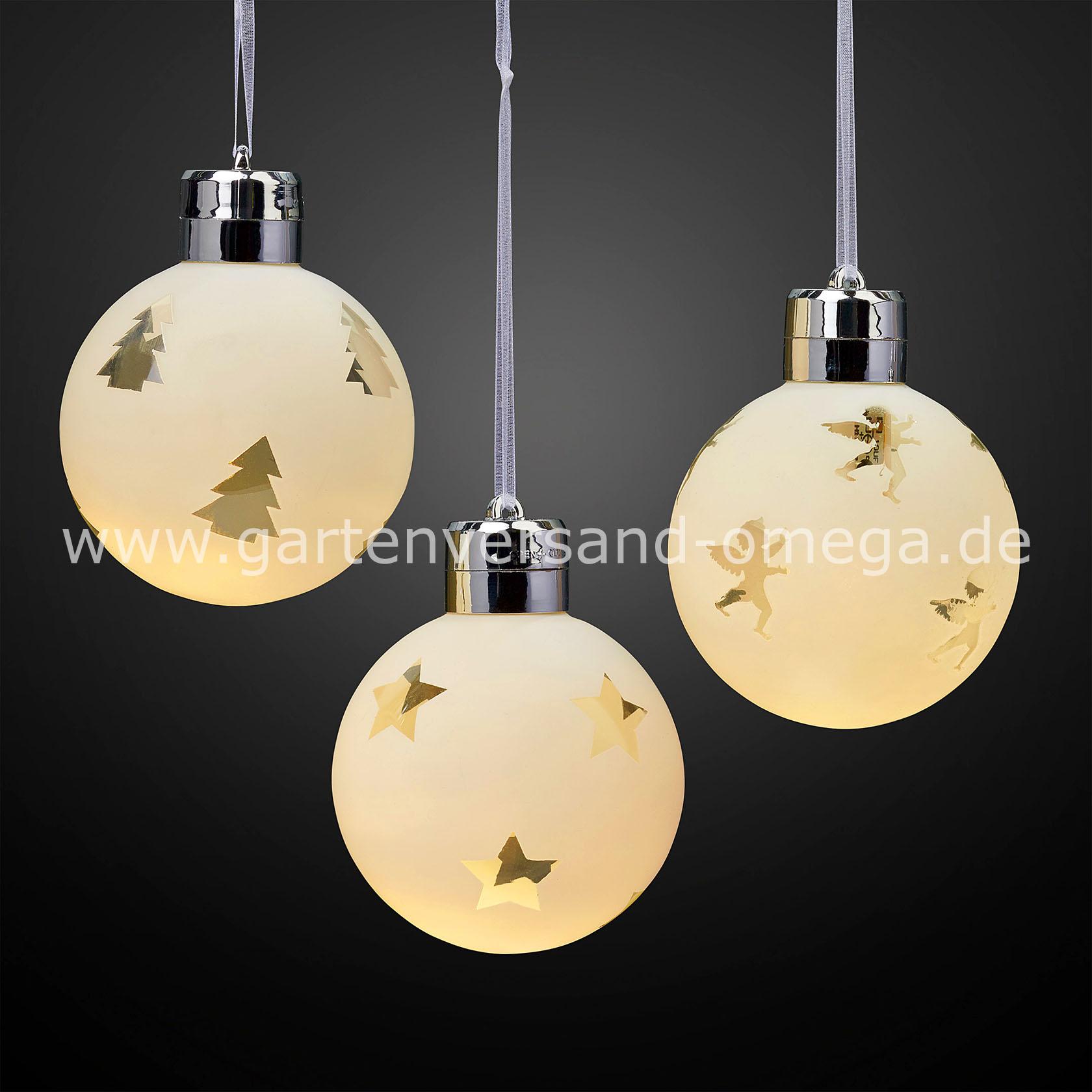 Beleuchtete Weihnachtskugeln.Led Weihnachtskugeln