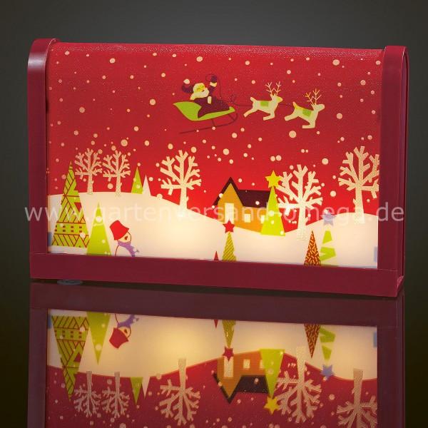 LED-Tischbild Weihnachtsmann mit Schlitten