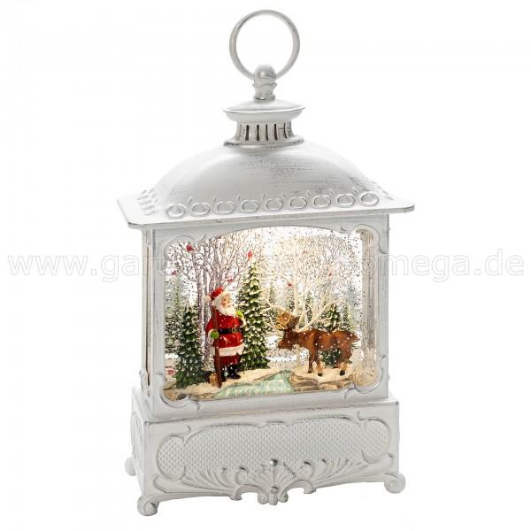 Wassergefüllte Laterne Weihnachtsmann mit Elch