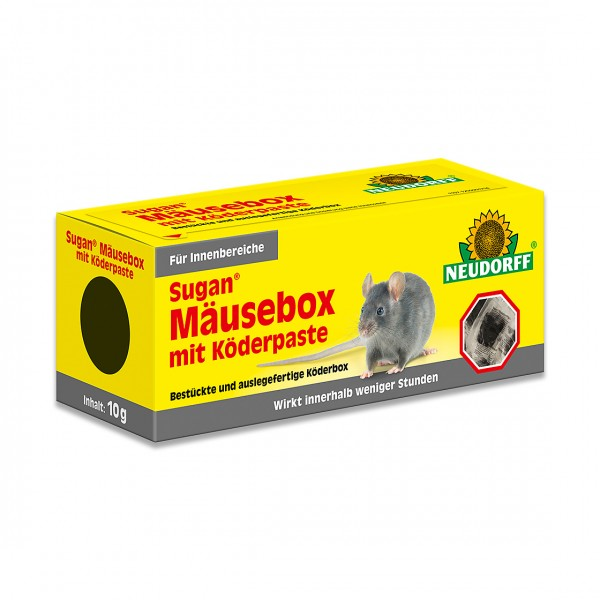 Neudorff Sugan MäuseBox mit Köder Paste