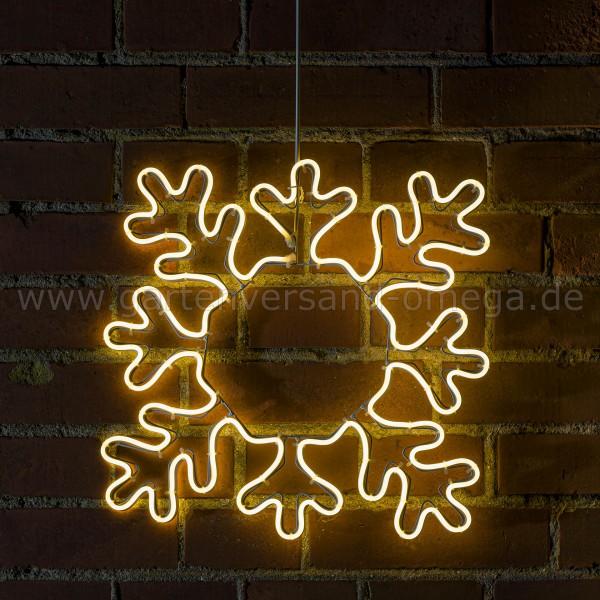 LED-Fenstersilhouette Schneeflocke - Beleuchtete Weihnachtsdekoration