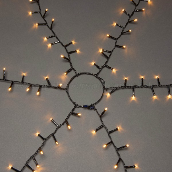 LED Compactlights Baummantel-Lichterkette für Außen Bernsteinfarben