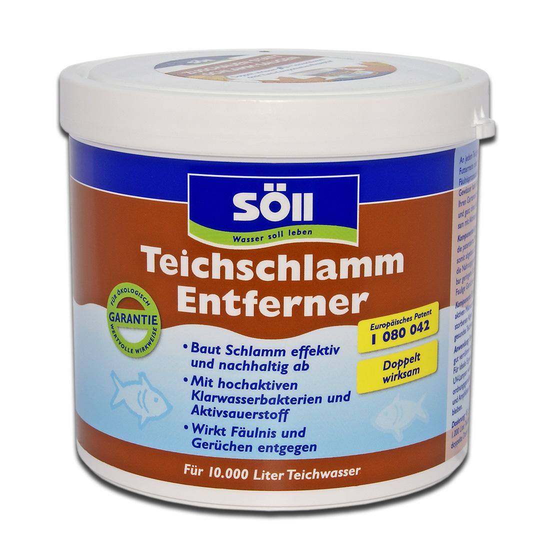 S ll teichschlammentferner gegen teichschlamm gegen for Gartenteichpflege algen