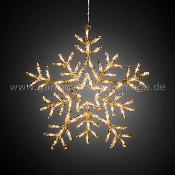 LED-Acrylsilhouette Schneeflocke mit Lichtfunktionen
