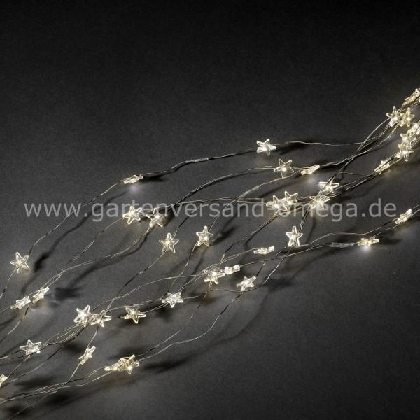 LED Sternenlametta Silberdraht