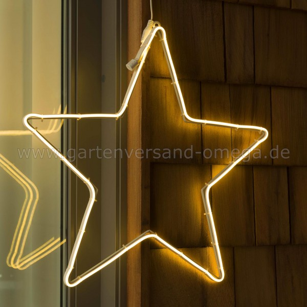 Weihnachtsaußendekoration LED-Schlauchsilhouette Stern