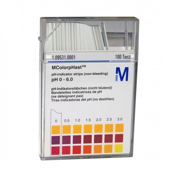 MColorpHast pH-Indikatorstäbchen pH 0 bis 6,0