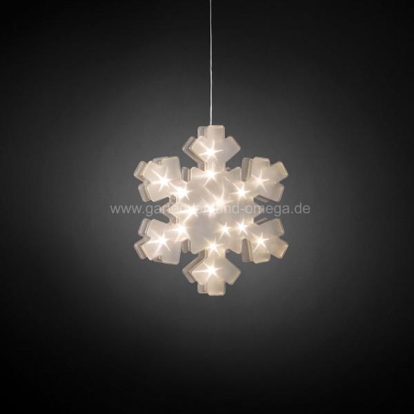 Effektdekoration LED Kunststoffschneeflocke