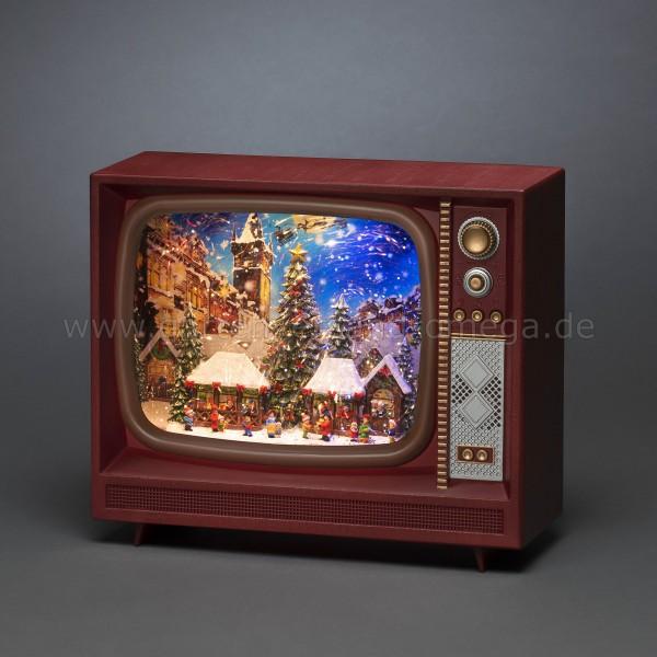 Wassergefüllte LED-Dekoration Fernseher Weihnachtsmarkt